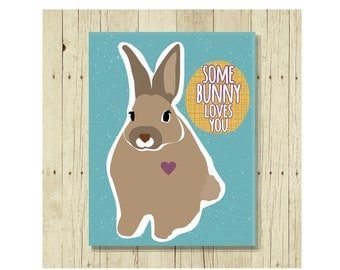 Some Bunny Loves You, Cute Fridge Magnet, Cute Magnets, Funny Pun, Gifts Under 10, Easter Magnet, Easter Gift, Bunny Art, Bunnies