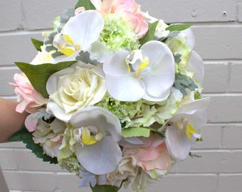 Faux Flower Bridal Bouquet