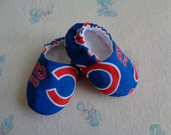 Chicago Cubs Baby Crib Shoes, Baby Booties