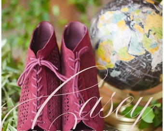 Burgundy World Traveler Social Media Stock Photos - 5 pack