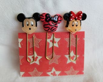 Mickey/Minnie Mouse Cabochon Planner Paperclip
