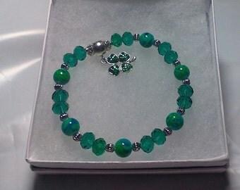 St. Patrick's Day Shamrock Bracelet