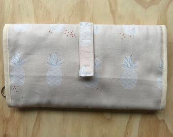 Diaper clutch - Changing pad - sweet pineapple All-in-One cotton -