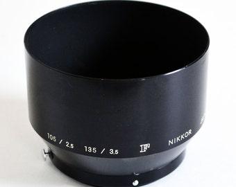 Vintage Genuine Nikon F Nikkor Lens Hood for 105/2.5mm and 135 3.5 Lenses