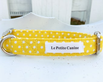 Dog Collar, Dog Collars, Yellow Dog Collar, Sumer Dog Collar, New Dog Collar, Bright Dog Collar, Adjustable Collar, Daisy-May Collection