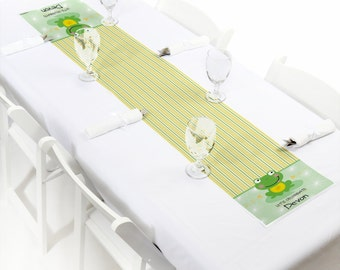 Froggy Frog Petite Table Runner - Custom Baby Shower or Birthday Party Decorations - Personalized Party Supplies