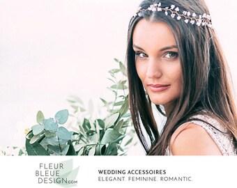 bridal hair vine | wedding hair piece | bridal crown | bridal silver headband | bridal hair piece | wedding headpiece