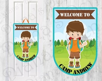 Camping Birthday Door Sign/Camping Party/Camping Door Sign/Camping Birthday/Boy Party/Girl Party