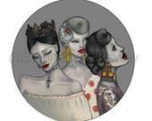 "Digital Fashion Illustration Print Titled ""Royalty"""