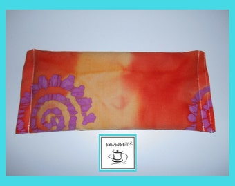 Eye Pillow, Eye Pillow Flax Seed, Eye Pillow Yoga, Eye Pillow Savasana, Lavender, Eye Compress, Orange Purple Spiral Batik
