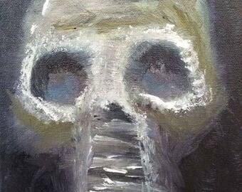 Untitled skull gas mask study