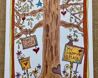 My Happy Place Tree Card