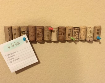Wine Cork Corkboard / Wine Cork bulletin board  / Wine cork note board  / Office decor / Stocking Stuffer