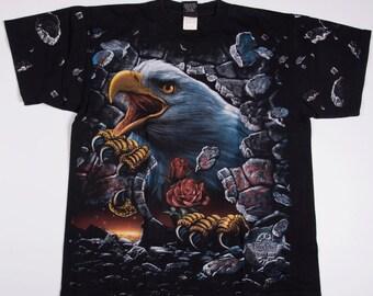 Vintage USA Bald Eagle Print 90s Tshirt