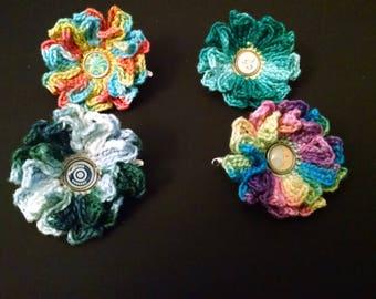 Variegated flower hair clip/pin