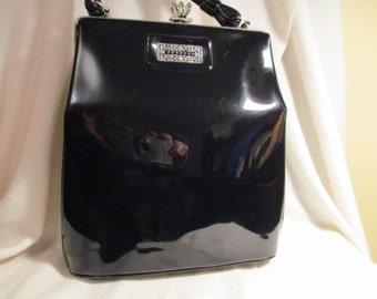 Vintage Spilene faux patent leather satchel