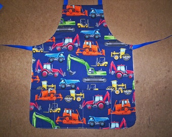Child or junior apron, Earth Mover Vehicles