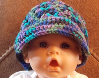 Multi Colored Baby's Visor Hat