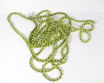 Vintage Chartreuse Green Glass Garland - Green Glass Bead Strand
