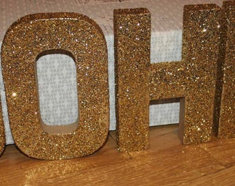 CUSTOM / Glitter Letter Blocks