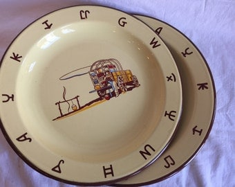 "2 Vintage Monterrey Western Ware  10"" Plates, in almost perfect condition"