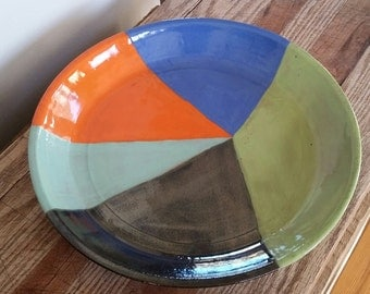 Ceramic Serving platter, pottery, kitchen ware, gift, hand made