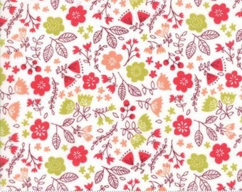 Toss the Garden Cream cotton fabric,  Just Another Walk in the Woods by Moda