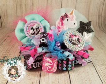 Always be Yourself, Unless You Can be a Unicorn - funky loopy bow