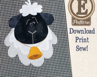 Sheep E-patternlet for Tea Towel
