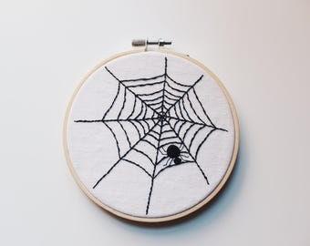 Spider Web-Halloween Modern Embroidery