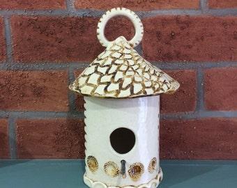 Hand Built Ceramic Birdhouse