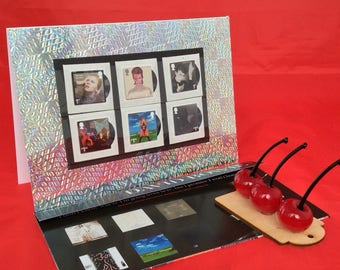 David Bowie album covers stamps card Blackstar Hunky Dory Lets Dance Alladin Sane