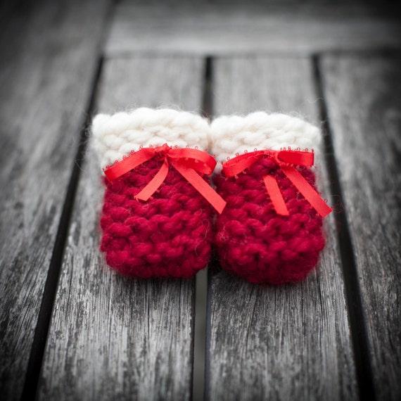 Loom Knit Baby Booties Shoes PATTERN Beginner Friendly
