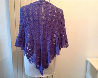 Shawl to knit in cotton with shiny string