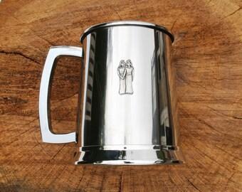 Gemini The Twins Tankard Metal Drinking Mug Mens Astrology Gift