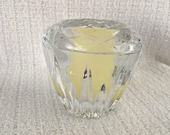 Cut Crystal Votive Candle Holder, Crystal Candle Holder, Crystal Votive, Glass Votive, Glass Candle Holder, Tealight Holder