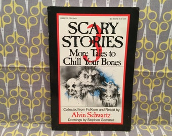 Scary Stories 3 More Tales to Chill Your Bones by Alvin Schwartz Paperback Book Vintage Horror