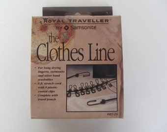 Samsonite Traveller Clothes Line -with pouch -NIP Vintage