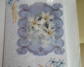 Handmade Angel & Lily Greetings Card