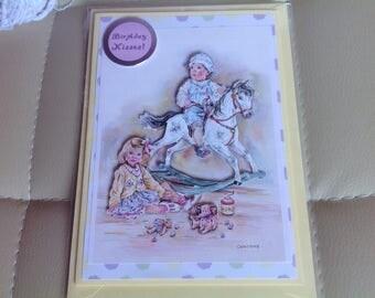 3D Decoupaged 'Happy Birthday' Handmade Card