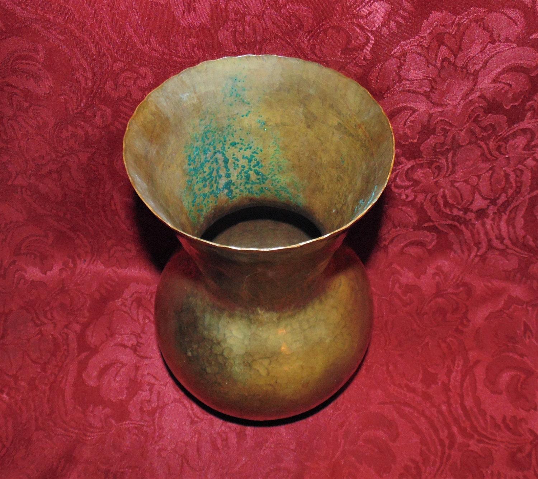 Mid century handarbeit large brass vase hand hammered made in mid century handarbeit large brass vase hand hammered made in germany reviewsmspy