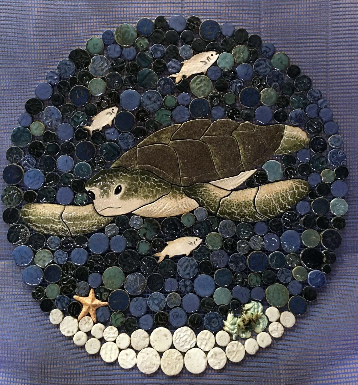 Sea Turtle Bathroom Accessories Sea Turtle Mosaic Etsy