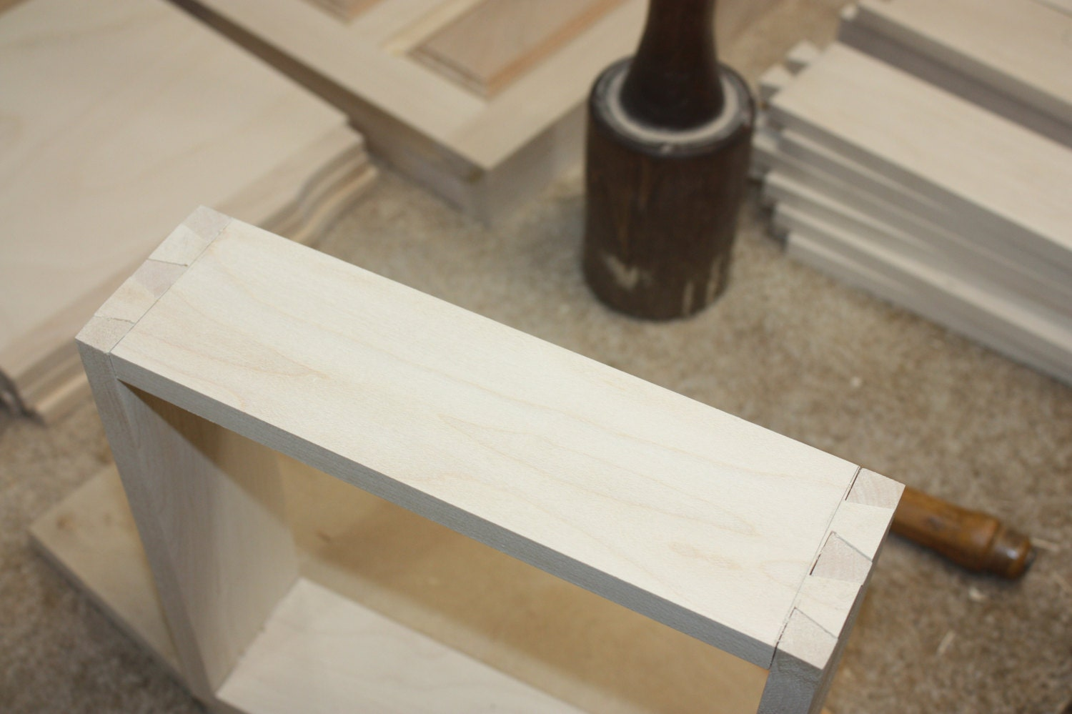 Maple Dovetail Drawers for a Jewelry Box