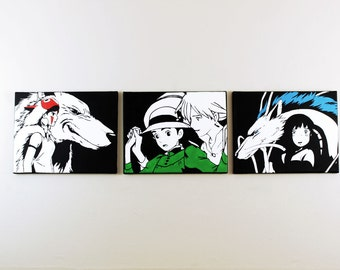 Studio Ghibli Set of 3 (Princess Mononoke, Howl Moving Castle, Spirited Away) (Sale)