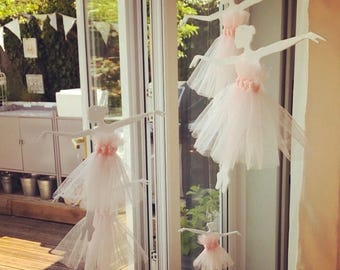 Nursery mobile, ballerina mobile, nursery decoration, baby's room, girls bedroom decoration,