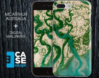 Geo Collection x McArthur Australia Phone Case, iPhone 7, iPhone 7 Plus, Rubber iPhone Case, Galaxy s8 Nature River Ocean Maps CASE ESCAPE