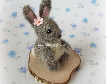 Miniature Bunny - Rabit - decoration - ornament - cute - gift - new baby - christening - baptism - wedding - birthday - present