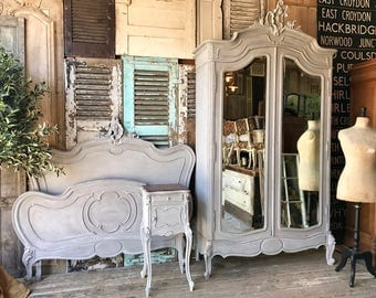 NOW SOLD - Vintage French Louis XV bedroom set