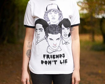 SALE Stranger Things T Shirt // friends don't lie, the upside down, eleven, eggo
