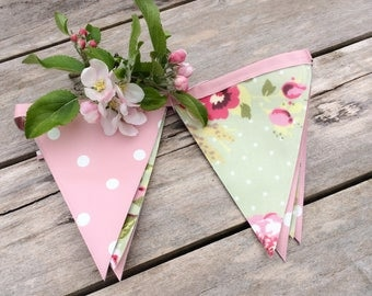 Oilcloth Bunting, Outdoor Bunting, Waterproof Bunting, Garden Decoration, Fence Art, Summerhouse, Shed Decoration